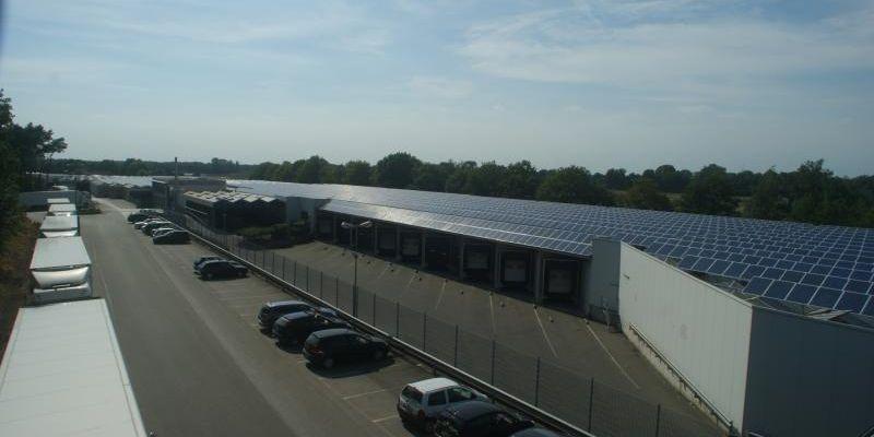 1 MWp Gewächshaus Süd